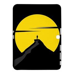 Man Mountain Moon Yellow Sky Samsung Galaxy Tab 4 (10 1 ) Hardshell Case