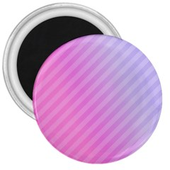 Diagonal Pink Stripe Gradient 3  Magnets