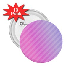 Diagonal Pink Stripe Gradient 2 25  Buttons (10 Pack)
