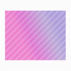 Diagonal Pink Stripe Gradient Small Glasses Cloth