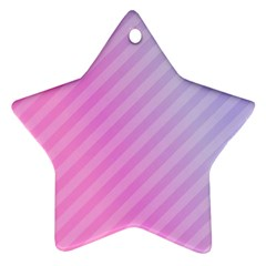 Diagonal Pink Stripe Gradient Star Ornament (two Sides)