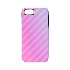 Diagonal Pink Stripe Gradient Apple Iphone 5 Classic Hardshell Case (pc+silicone)