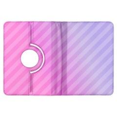 Diagonal Pink Stripe Gradient Kindle Fire Hdx Flip 360 Case