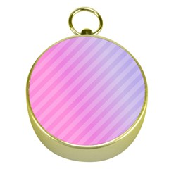 Diagonal Pink Stripe Gradient Gold Compasses