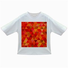 Red Hot Triangle Tile Mosaic Infant/toddler T Shirts