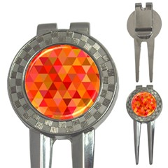 Red Hot Triangle Tile Mosaic 3 In 1 Golf Divots