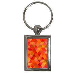 Red Hot Triangle Tile Mosaic Key Chains (rectangle)