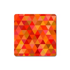 Red Hot Triangle Tile Mosaic Square Magnet