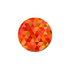 Red Hot Triangle Tile Mosaic Golf Ball Marker (10 Pack)