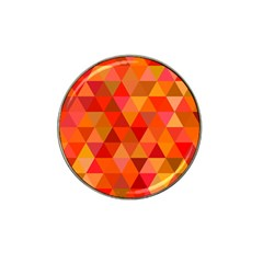 Red Hot Triangle Tile Mosaic Hat Clip Ball Marker (4 Pack)