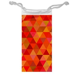 Red Hot Triangle Tile Mosaic Jewelry Bag