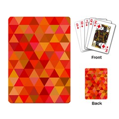 Red Hot Triangle Tile Mosaic Playing Card