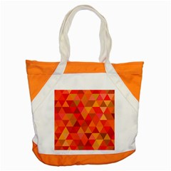 Red Hot Triangle Tile Mosaic Accent Tote Bag