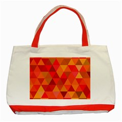 Red Hot Triangle Tile Mosaic Classic Tote Bag (red)
