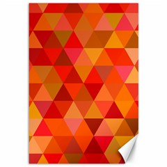 Red Hot Triangle Tile Mosaic Canvas 12  X 18