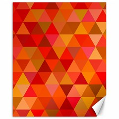 Red Hot Triangle Tile Mosaic Canvas 16  X 20
