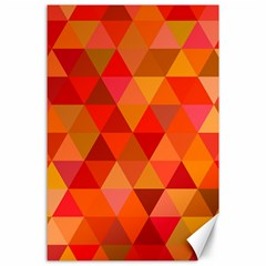 Red Hot Triangle Tile Mosaic Canvas 24  X 36