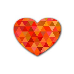 Red Hot Triangle Tile Mosaic Heart Coaster (4 Pack)