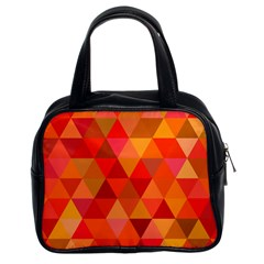 Red Hot Triangle Tile Mosaic Classic Handbags (2 Sides)
