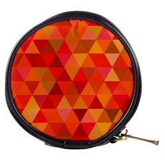 Red Hot Triangle Tile Mosaic Mini Makeup Bags