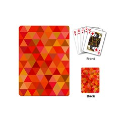 Red Hot Triangle Tile Mosaic Playing Cards (mini)