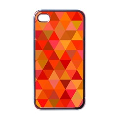 Red Hot Triangle Tile Mosaic Apple Iphone 4 Case (black)
