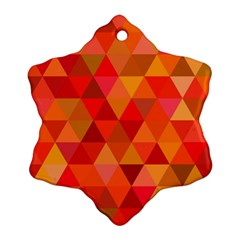 Red Hot Triangle Tile Mosaic Ornament (snowflake)