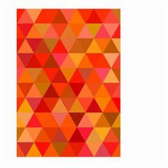 Red Hot Triangle Tile Mosaic Large Garden Flag (two Sides)