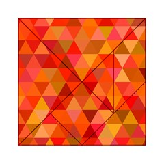 Red Hot Triangle Tile Mosaic Acrylic Tangram Puzzle (6  X 6 )