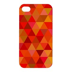 Red Hot Triangle Tile Mosaic Apple Iphone 4/4s Premium Hardshell Case
