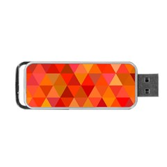 Red Hot Triangle Tile Mosaic Portable Usb Flash (one Side)
