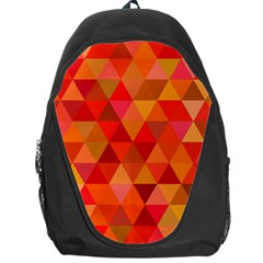 Red Hot Triangle Tile Mosaic Backpack Bag