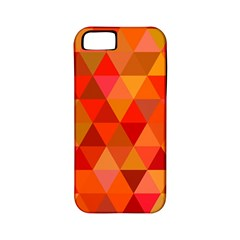 Red Hot Triangle Tile Mosaic Apple Iphone 5 Classic Hardshell Case (pc+silicone)