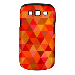 Red Hot Triangle Tile Mosaic Samsung Galaxy S Iii Classic Hardshell Case (pc+silicone)
