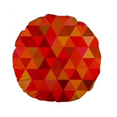 Red Hot Triangle Tile Mosaic Standard 15  Premium Round Cushions