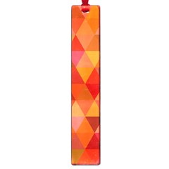 Red Hot Triangle Tile Mosaic Large Book Marks
