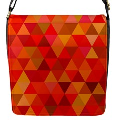 Red Hot Triangle Tile Mosaic Flap Messenger Bag (s)