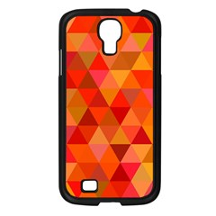 Red Hot Triangle Tile Mosaic Samsung Galaxy S4 I9500/ I9505 Case (black)