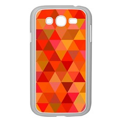 Red Hot Triangle Tile Mosaic Samsung Galaxy Grand Duos I9082 Case (white)
