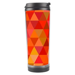 Red Hot Triangle Tile Mosaic Travel Tumbler