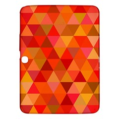 Red Hot Triangle Tile Mosaic Samsung Galaxy Tab 3 (10 1 ) P5200 Hardshell Case