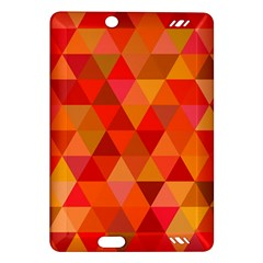 Red Hot Triangle Tile Mosaic Amazon Kindle Fire Hd (2013) Hardshell Case