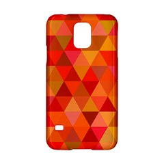 Red Hot Triangle Tile Mosaic Samsung Galaxy S5 Hardshell Case