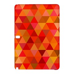 Red Hot Triangle Tile Mosaic Samsung Galaxy Tab Pro 12 2 Hardshell Case