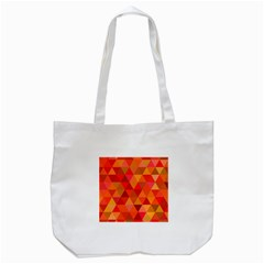 Red Hot Triangle Tile Mosaic Tote Bag (white)