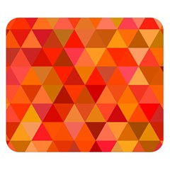 Red Hot Triangle Tile Mosaic Double Sided Flano Blanket (small)