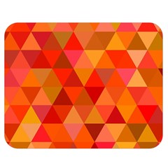 Red Hot Triangle Tile Mosaic Double Sided Flano Blanket (medium)