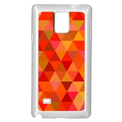 Red Hot Triangle Tile Mosaic Samsung Galaxy Note 4 Case (white)