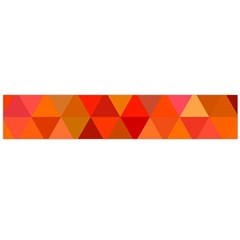 Red Hot Triangle Tile Mosaic Flano Scarf (large)