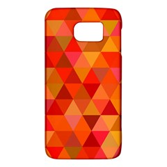 Red Hot Triangle Tile Mosaic Galaxy S6